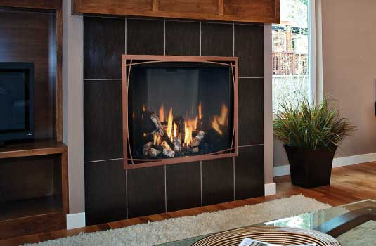 Mendota FullView Decor Gas Fireplace