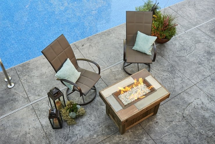 Vintage Outdoor Fire Table