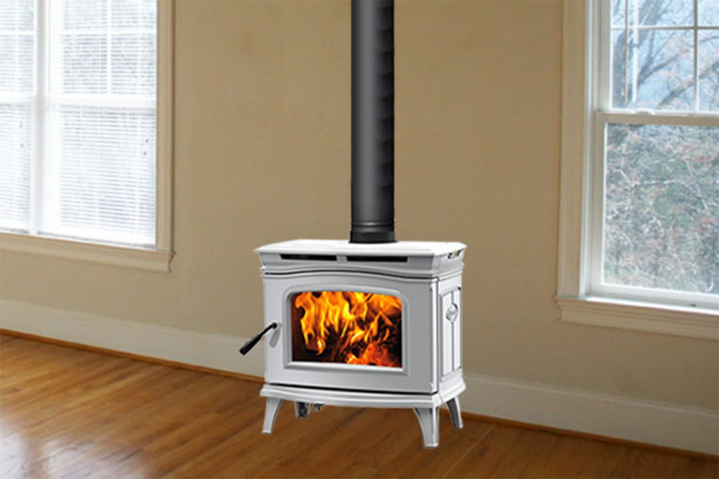 Pacific Energy Alderlea 1.2 Wood Stove Lifestyle Image