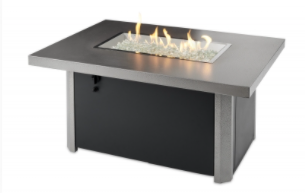 Caden Rectangular Gas Fire Pit Table