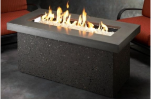 Key Largo Linear Gas Fire Pit Table