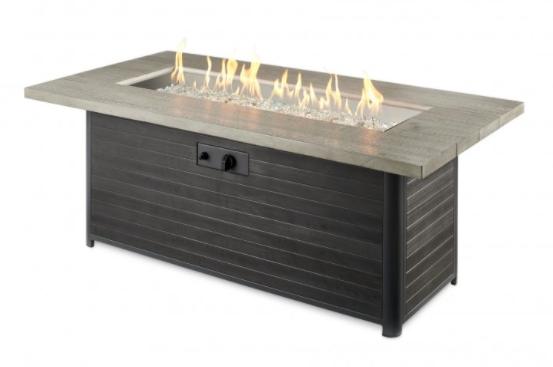 Cedar Ridge Linear Gas Fire Pit Table