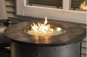 Edison Round Gas Fire Pit Table Small